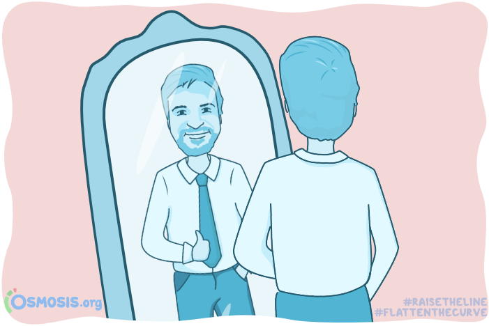 Osmosis illustration of someone feeling confident.
