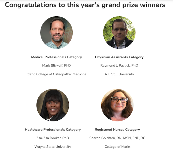 Osmosis Raise the Line Faculty Awards winners.