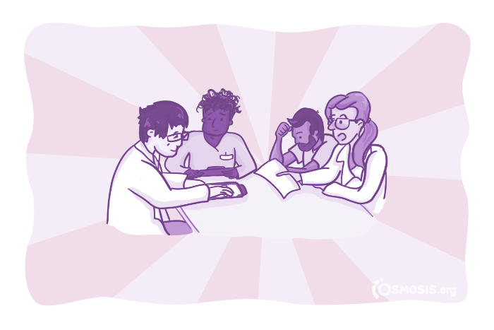 Osmosis illustration of students studying together.