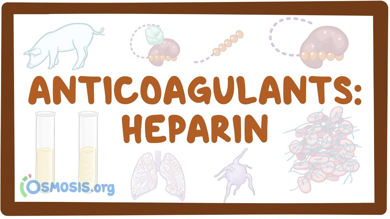 anticoagulants heparin osmosis