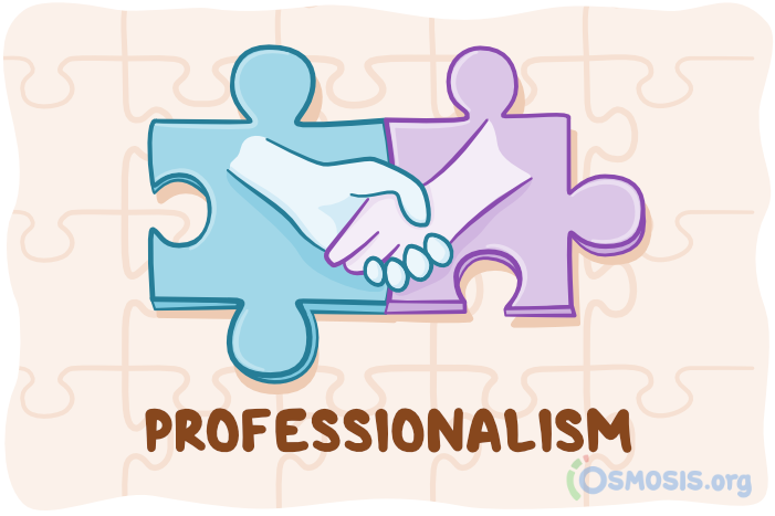 Osmosis illustration of professionalism.