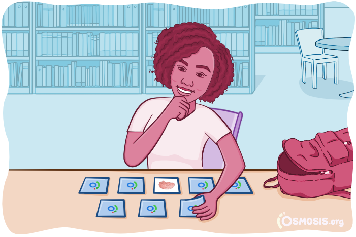 Osmosis illustration of a student playing a game of