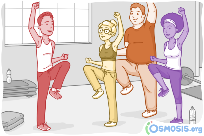 Online workout class