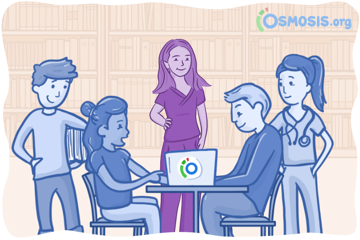 Osmosis illustration of a student who has overcome impostor syndrome.