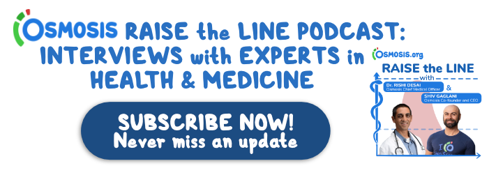 Osmosis Raise the Line Podcast display ad.