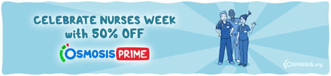 Osmosis Nurses Week sale banner.