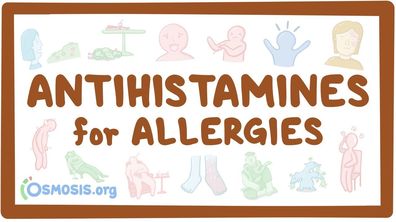 Antihistamines for allergies - Osmosis Video Library