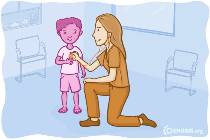 Osmosis illustration of Viktoriya Kislyak interacting with a young patient.