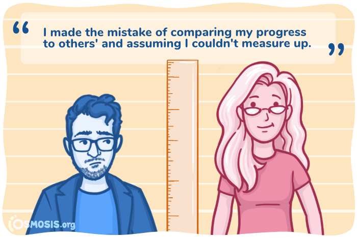 Osmosis illustration showing the danger of comparing yourself to others.