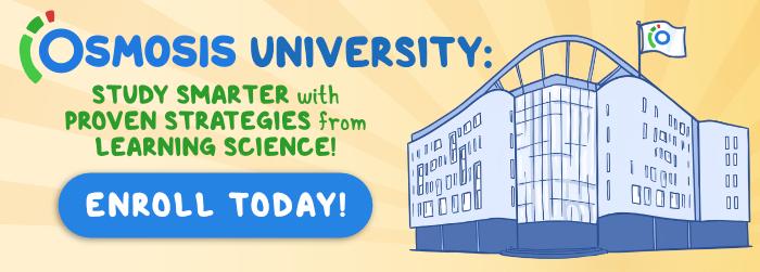 Osmosis University display ad.